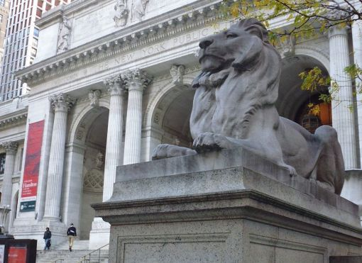 NY Public Library lion (either Patience or Fortitude)