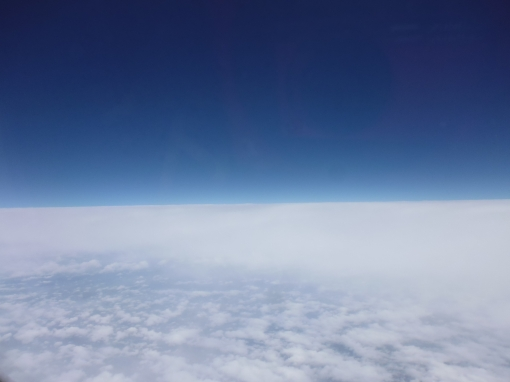 Straight line of clouds