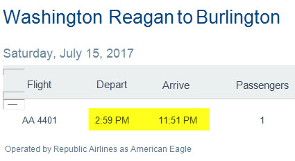 Finally I get alerted to my rebooked 90-minute flight, but instead of it arriving at 4:30pm, it's listed as arriving at 11:51pm (the arrival time for the 10:20pm flight). Back to the AA people again to check, and they got it wrong on the alert. Message to AA customers: 'Don't trust the alerts!'