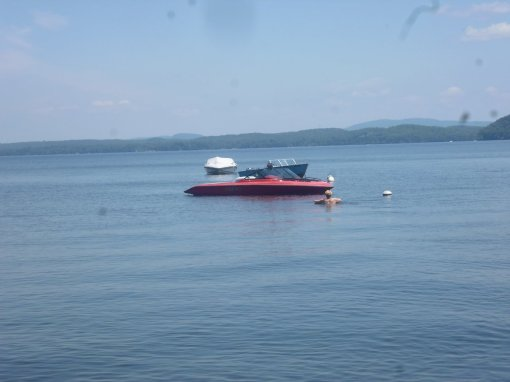 Our red ski boat