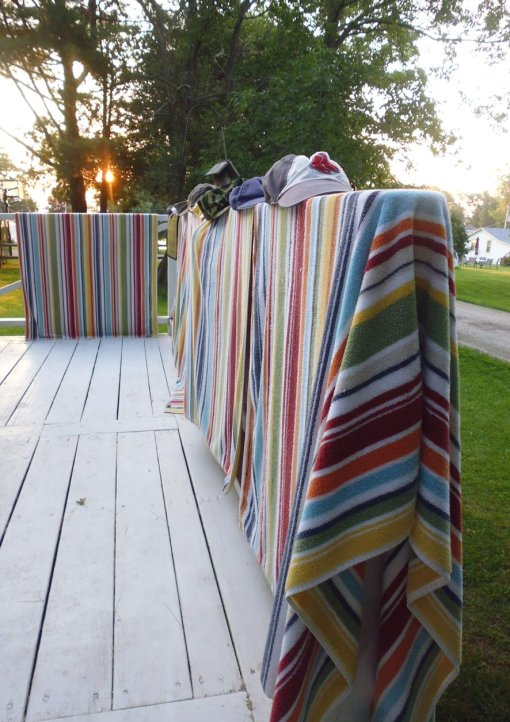 With matching towels, there's no argument