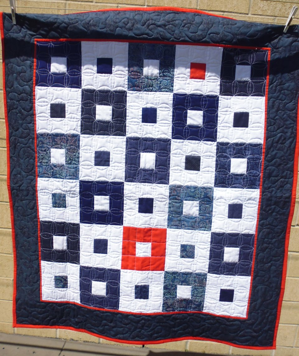 cheri day inspiration a this star quilt missouri over using tumbler white says wall made pieces fabric company blue from the of red and quilts with left mcgunagle flag was pattern days