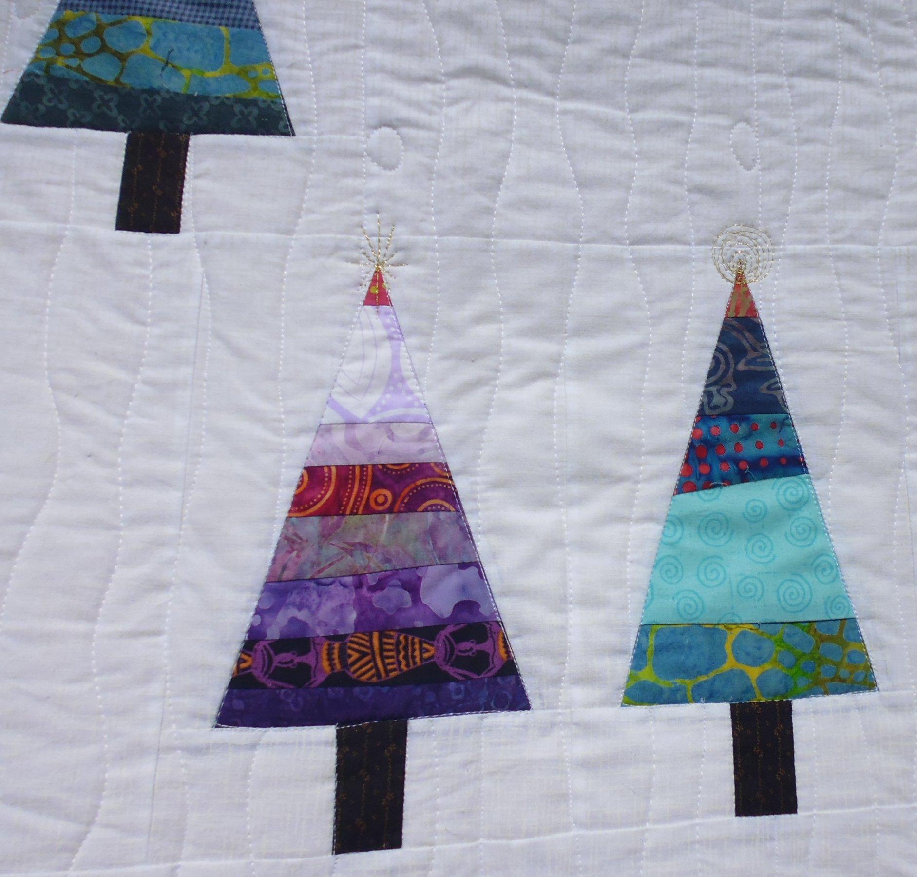 Christmas tree quilt | Rhonda Bracey: At Random