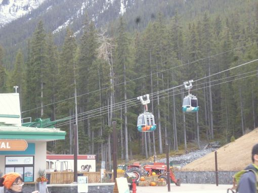 Sulphur Mountain -- 4-person gondolas