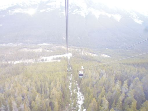 Looking back to the gondola base station