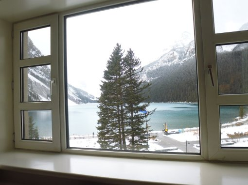 View of Lake Louise from my room