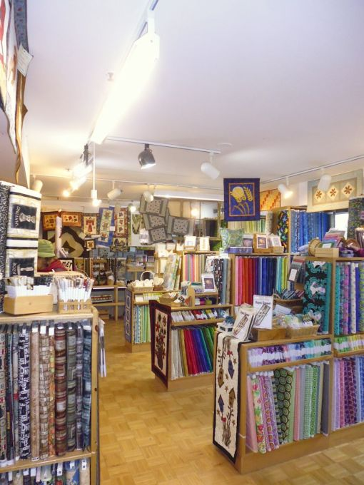 Pine Creek quilt store, Canmore, Alberta