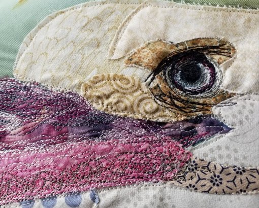 Stitching the eye was the first task on Day 2