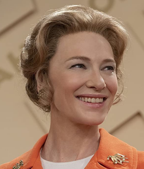 Cate Blanchett as Phyllis Schlafly, from the Mrs America TV series (photo from IMDB)